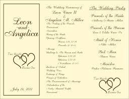 wedding ceremony program template template ceremony programs template image of wedding program