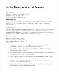 financial analyst resume financial analyst resume 10 pdf word documents free