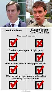 a comparison between trump u0027s son in law jared kushner and eugene