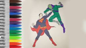 superman vs lex luthor coloring pages superman fighting fun pages
