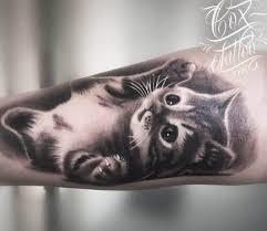 small cat tattoo by cox tattoo photo no 20320