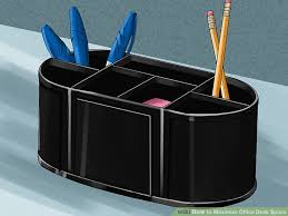 Office Desk Space 3 Ways To Maximize Office Desk Space Wikihow