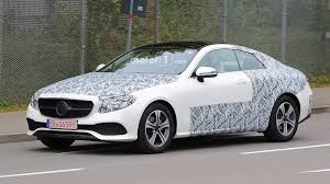 2018 mercedes e class coupe loses some of the camo