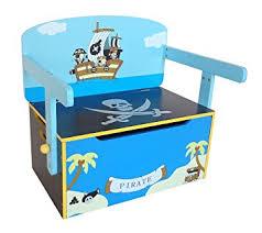 bureau coffre 3 en 1 kiddi style les enfants bois coffre à jouets convertible banc ou