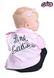 Infant Costumes Grease Pink Ladies Costume For Babies