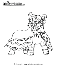 chinese lion coloring page a free fantasy coloring printable