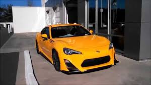 scion yellow 2015 scion frs release series 1 0 walkaround and review youtube