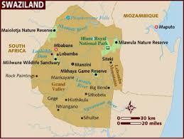 Swaziland Map Swaziland By Brianna Costa