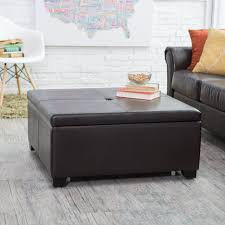 Large Ottoman Storage Bench by Ottoman Dazzling Leather Cocktail Ottoman With Shelf Oversized