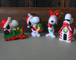 Snoopy Christmas Office Decorations by Christmas Ornament Snoopy Etsy