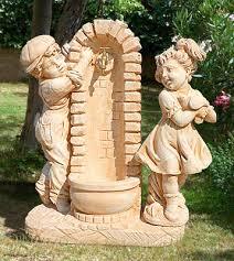 fontane per giardini fnr41 fontane da giardino vedovella in cemento con bimbi da