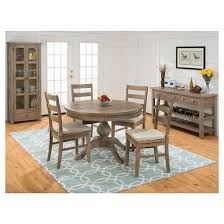 slater mill round to oval dining table wood reclaimed pine