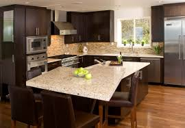 Granite Island Kitchen Contemporary Kitchen Pental Quartz Eggshell Counters Giallo