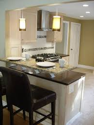 breakfast bar ideas for small kitchens caesarstone peninsula with granite raised breakfast bar kitchen