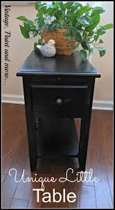 nightstand l with usb port unique little table vintage paint and more