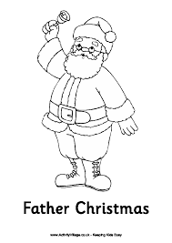 father christmas colouring colouring pages kids