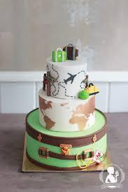 travel wedding cake world map suitcase cakes by mademoiselle
