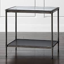 all glass end tables glass end tables crate and barrel