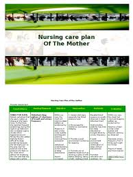 objective for resume nursing nursing care plan of the mother childbirth pain