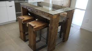 glass top dining tables with wood base furniture rustic modern