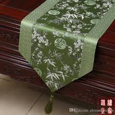 luxury damask table runner high grade patchwork chinese knot luxury dining table runners silk