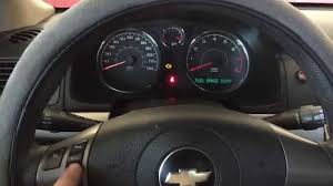 video clear change oil soon message on chevy cobalt