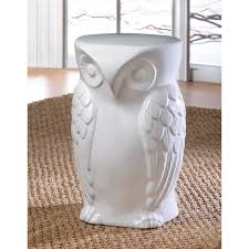 wholesale wise owl plant stand white ceramic owl pedestal accent