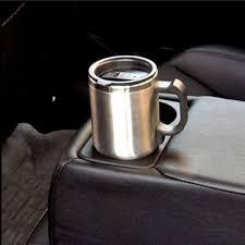 heated 12v 450ml stainless steel travel cup coffee tea car plug