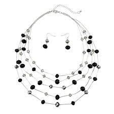 fashion beads necklace images Bocar new beautiful fashion 5 layer handmade beads jpg
