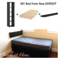 Ikea Daybed Hack Ikea Expedit Hack Compact Storage Bed Jewels At Home