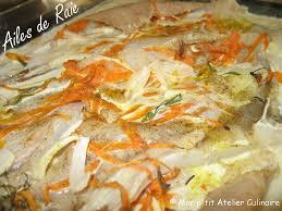 cuisiner des ailes de raie aile de raie au four mon p atelier culinaire