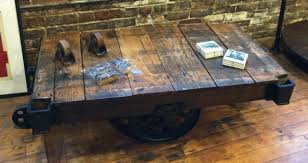 Industrial Cart Coffee Table Yellow Chair Market Industrial Cart Coffee Table