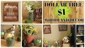 1 dollar tree woodland home decor ideas youtube