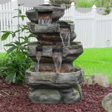 Rock Fountains For Garden Outdoor Fountains Backyard Garden Waterfall Fountains