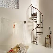 Stair Banister Glass Customized Interior Spiral Staircase With Stainless Steel Handrail