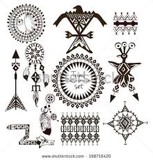 collection of 25 tribal symbol tattoos set