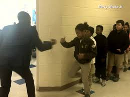 Student Throws Desk At Teacher Teacher Has Personalized Handshakes With Every One Of His Students