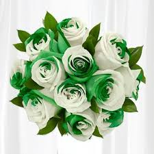 green roses feeling lucky send our gorgeous green and white lucky roses