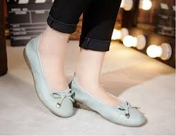 maternity shoes muyang brand women genuine leather flat shoes woman