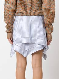 jw anderson hoodie j w anderson striped asymmetric skirt whtablue