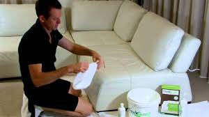 Leather White Sofa How To Clean White Leather Youtube