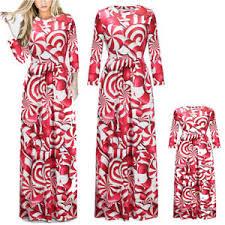 Mother Daughter Matching Dresses Women Girls Beach Dress Boho