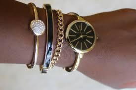 ladies bangle bracelet watches images Anne klein women 39 s interchangeable gold tone bangle bracelets jpg