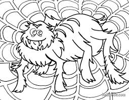 hair raising spider coloring pages hellokids