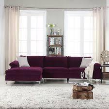 Chaise Lounge Sectional Sofa Velvet Sectional Sofas Loveseats Chaises Ebay