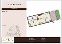 Floor Plan Studio Type Floor Plans Crystal Residences Jumeirah Village Circle