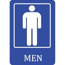 bathroom men mens bathroom blue sign men public restroom 12x18 signs
