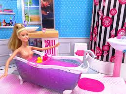 barbie glam bathroom barbie doll pink bath bomb with ken