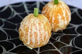 halloween healthy snacks stuff pinterest pompoenen
