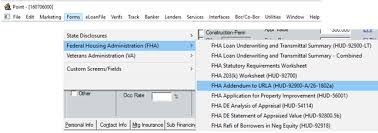 0972 completing the fha va addendum to urla hud form 92900 a